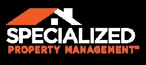 Specialized Property Management White Orange Logo